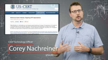 Attackers Target ERP – Daily Security Byte